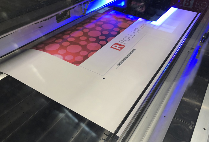 Printing roll up banners